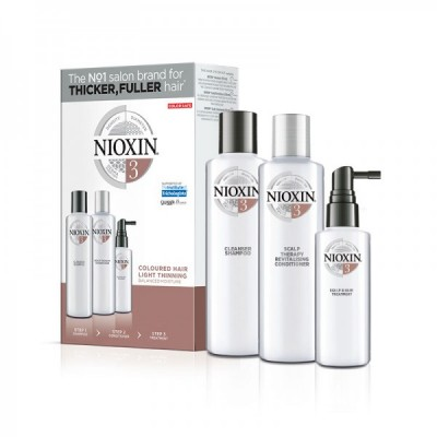 Nioxin System 3 Loyalty Kit (shampoo 300ml, conditioner 300ml, treatment 100ml)
