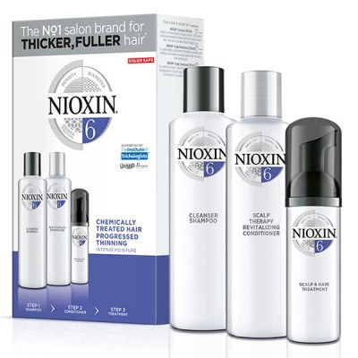 Nioxin System 6 Loyalty Kit (shampoo 300ml, conditioner 300ml, treatment 100ml)