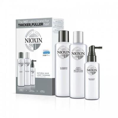 Nioxin System 1 Loyalty Kit (shampoo 300ml, conditioner 300ml, treatment 100ml)