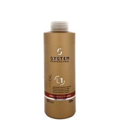 System Professional Fibra LuxeOil Keratin Protect Shampoo 1000ml (L1)